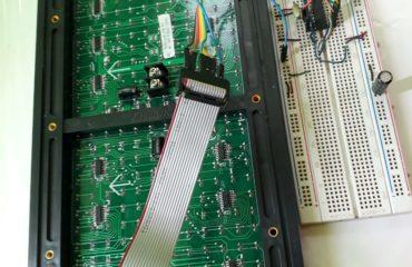 Letrero led con módulos P10 y Atmega328P
