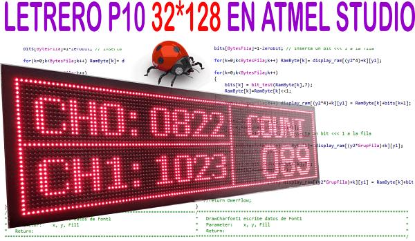Letrero led programable con ATmega328p